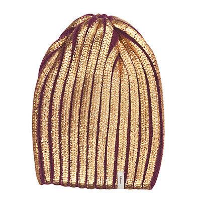 (p75) Costole A Maglia Bambini Berretto Freaky Testa Beanie Inverno Cappello Metallizzato Gr.53-