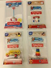 World's Smallest: Fisher Price Corn Popper, Phone, Rack A Stack, Bus (Lot of 4)