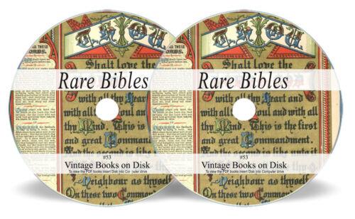 Bibles Rare Ancient Antique on 2 DVDs  Douay-Rheims Coverdale Psalter Bishops 53