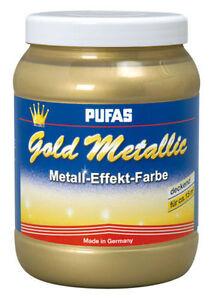 Das Bild Wird Geladen Pufas Effect 1 5l Gold Metallic Metall Effekt