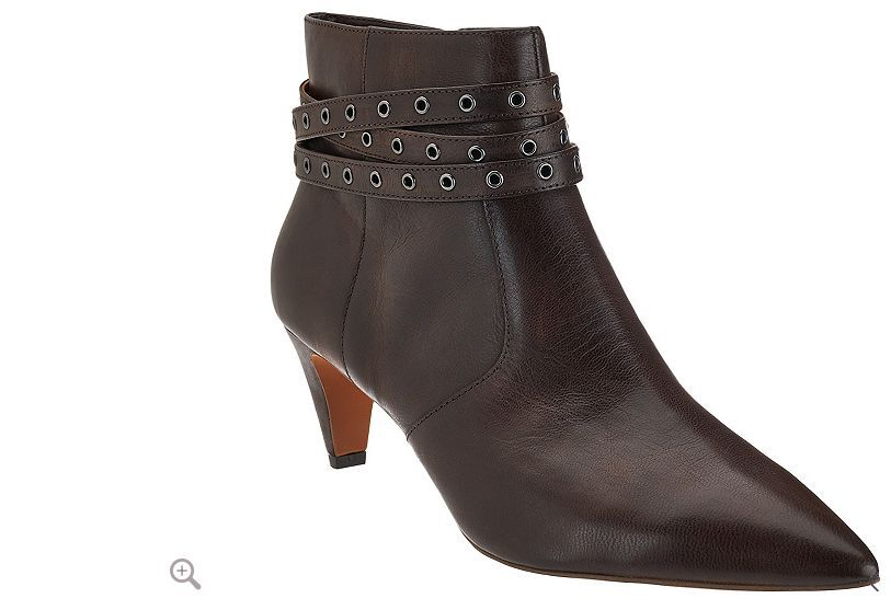 G.I.L.I. Leather Pointed Toe Ankle Boots - Kodelle  brown 5.5m new