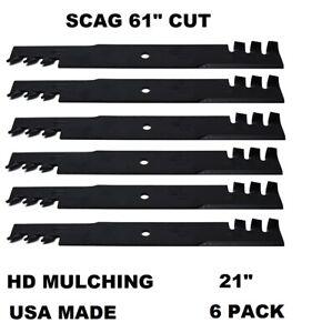 "6pk Mulching Lawn Mower Blades Fits 61/"" Ferris 7017081 7075770 7075770YP"