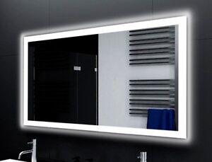 Badspiegel LUX mit LED Beleuchtung Badezimmerspiegel Bad Spiegel ...