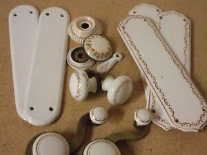 Image is loading Vintage-original-ceramic-finger-plates -handles-etc-Collection- & Vintage original ceramic finger plates + handles etc.- Collection ...