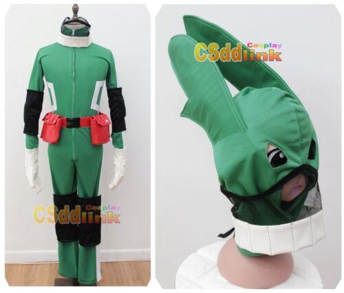 My Hero Academia Midoriya Izuki Cosplay Costume With Mask green
