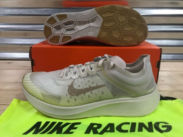 the latest d9f44 4a674 Nike Zoom Fly SP Fast Running Shoes Light Orewood Elemental Gold SZ (AT5242- 174