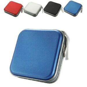 BLUE-CD-DVD-40-Disc-Case-Wallet-Holder-Cover-Water-Resistant-Wallet-Plastic-Bag