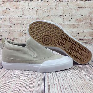 e256387e32f50 Details about ADIDAS Matchcourt Mid Slip On Men's Sneakers Size 7 Beige  Shoes Skateboarding