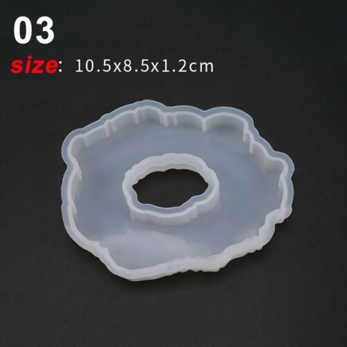 DIY Crystal Epoxy Resin Irregular Ellipse Coaster Mirror Mold Silicone Mould K/%