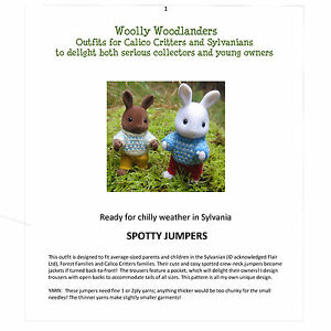 Spotty-Jumpers-KIT-Designer-Knitting-Pattern-for-Sylvanian-Families-Adult-amp-Child