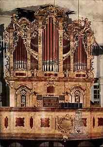 Kirchen-Bauwerke-AK-DDR-Ansichtskarte-Innenansicht-Orge-Kirche-in-WALTERSDORF
