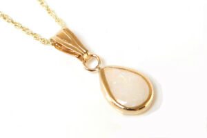 9ct Gold Celtic Opal Pendant Necklace and Chain Gift Boxed Made in UK