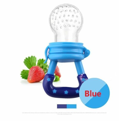 Silicone Feeders Baby Pacifier Fruit Food Nipple Feeding Spoon Soother Set