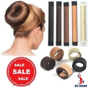 Hair-Bun-Maker-Donut-Styling-Bands-Former-Foam-French-Twist-Magic-DIY-Easy-Tool