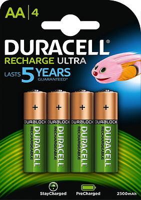 4 x Duracell Mignon AA 2500 mAh HR6 Akku Ultra Rechargeable  NiMH 1,2Volt