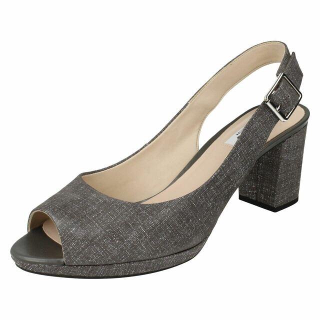Clarks Ladies Peep Toe SlingBack Sandals Kelda Spring