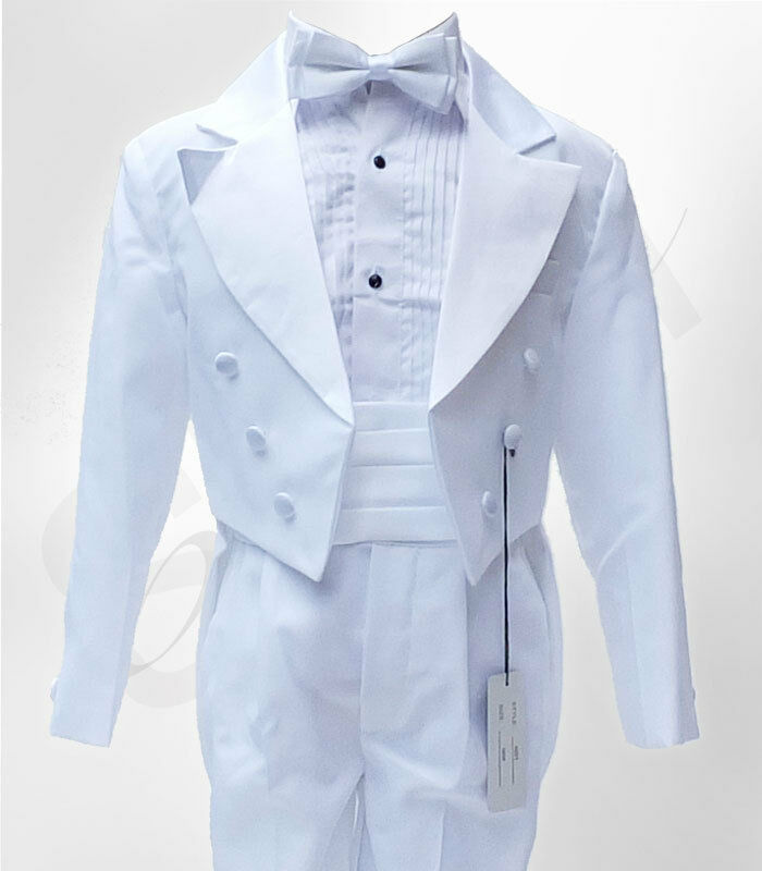 Baby Amp Boys Formal Tuxedo Tail Suit In White Christening