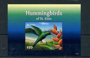 Copieux St Kitts 2015 Neuf Sans Charnière Colibris De St Kitts 1v S / S Oiseaux Green-throated Caribéens