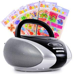 toplader puffy sticker cd player kinder m dchen jungen radio stereo anlage musik ebay. Black Bedroom Furniture Sets. Home Design Ideas