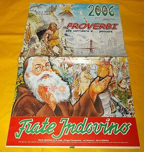 Calendario Frate Indovino Ebay.Dettagli Su Frate Indovino Calendario Anno 2006 Proverbi Per Sorridere E Pensare