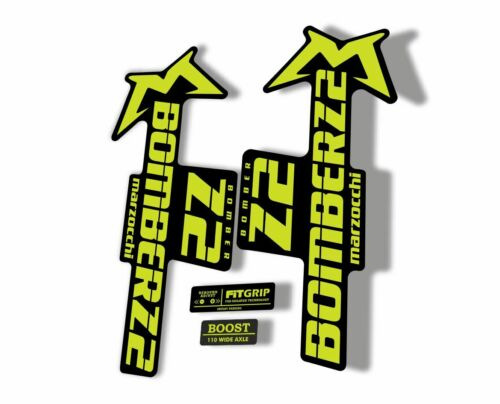 Marzocchi Bomber Z2 2020 Fork Suspension Sticker Decal Kit Adhesive Lime Green