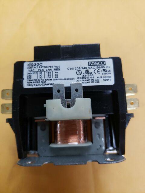 Fasco H230a Magnetic Contactors Definite Purpose 2
