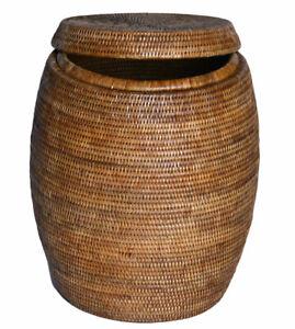Brown-Luxury-Laundry-Storage-Basket-Bin-Mayanmar-High-End-Quality-Laundry