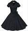 50s-60s-Retro-Hepburn-Style-V-Neck-Swing-Lapel-Rockabilly-Housewife-Pinup-Dress thumbnail 12