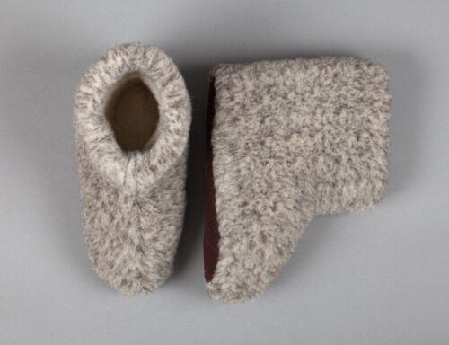 Confortable 11 Merino Bottes Chaudes Gris 5 Pantoufles Laine Taille Homme 1R6R8
