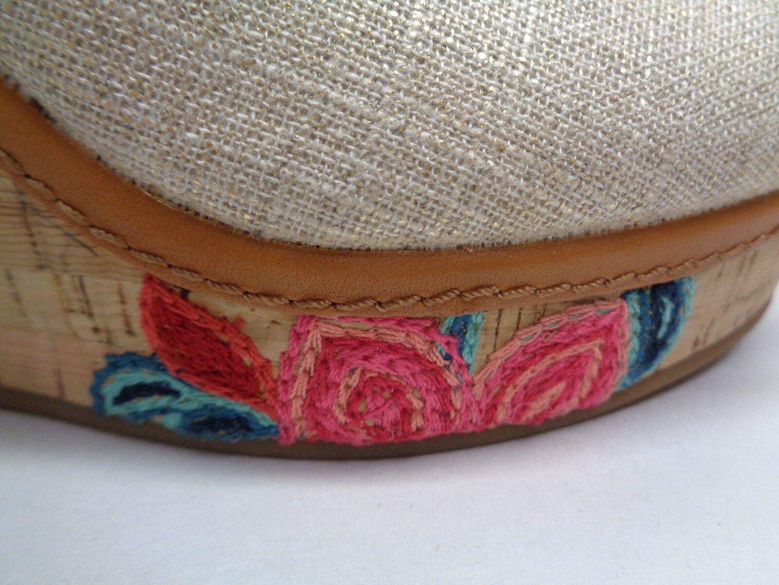 Antonio Melani Größe 8 M ALLIS Floral Braun Fabric Fabric Fabric Wedge Heels New Damenschuhe Schuhes 480bcf