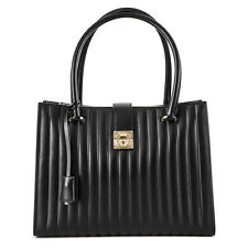 SALVATORE FERRAGAMO Marlene Padded Gancini-Lock Tote Small Bag $1850