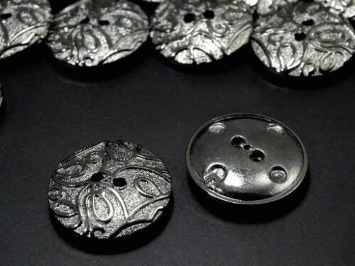 Bouton Foncé Argent avec lianes 23mm 2.20 EUR//pièce