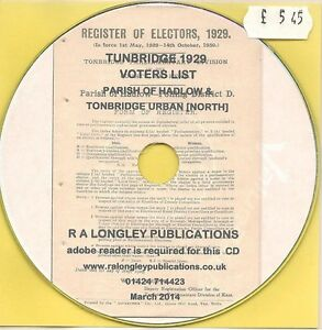 Tonbridge-1929-Voters-Lists