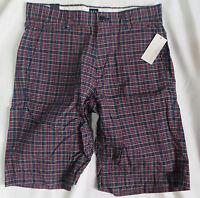 NEW NWT Gap Shorts blue plaid mens size 28