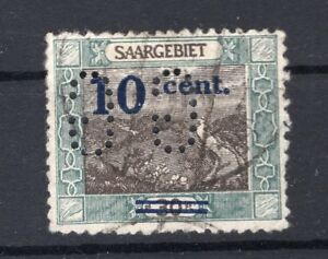 Saar-firmenlochung-Perfin-72-Postmarked-A6640