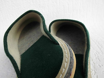 FILZ Pantoffeln - Hausschuhe, Gr.43 WOLLFILZ, GRÜN, Made in Poland