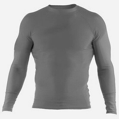 Rash guard Rash Vest All Sports Light GREY /& Dark GREY MMA Running Body Armour