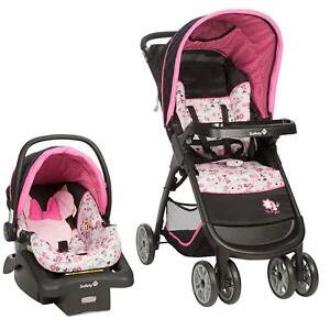 Details About Baby Car Seat And Stroller Set Infant Girl 4 Travel System Kid Newborn Combo Set