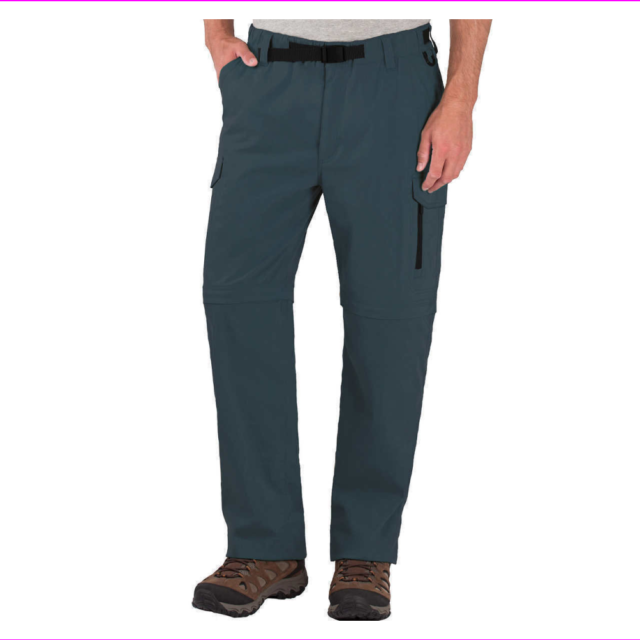 BC Clothing Men/'s Convertible Stretch Cargo Hiking Pants Shorts,Zippered Pockets