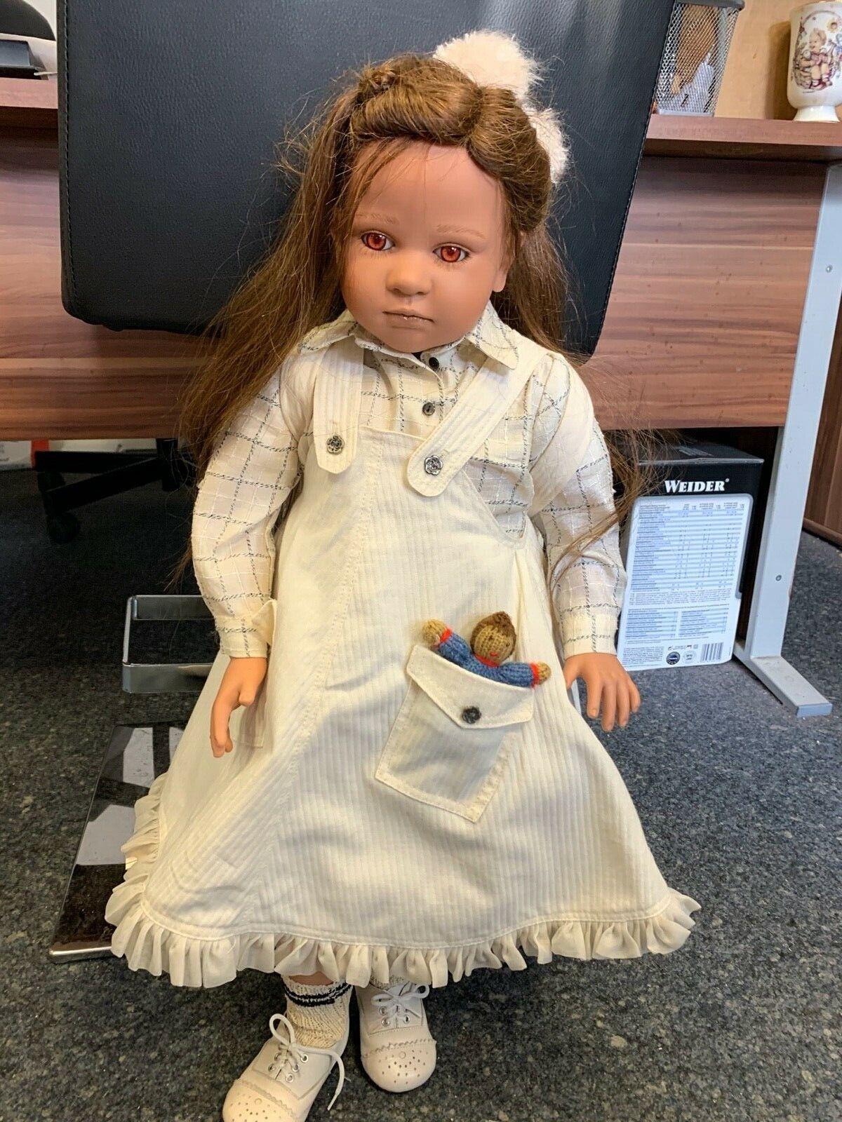 Ruth Treffeisen Vinyl Künstlerpuppe Puppe 72 cm. Top Zustand