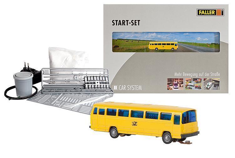 Faller 162018 ESCALA N Car System Set de inicio MB 0302 Bus de correo (Wiking)