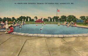 POSTCARD Swope Park Entrance The Mirror Pool Kansas City