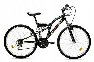 Men-Women-18Speed-26-034-26-034-Wheel-MTB-Frames-FULL-Suspension-Mountain-Bike-Bicycle
