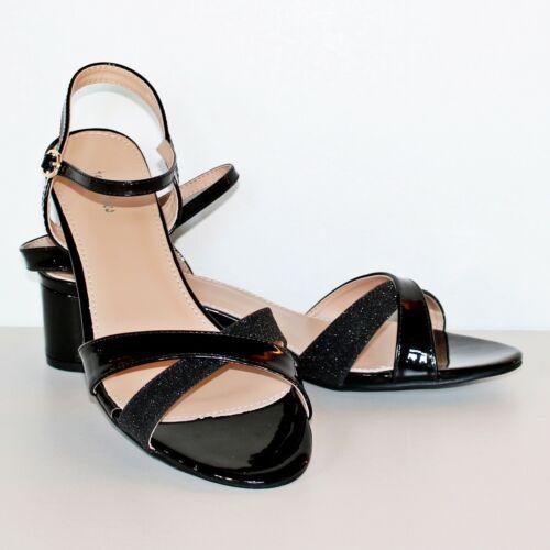 Ladies Women Party Bridal Plus Big Sizes Low Block Heel Shoes Flats Sandals-6910