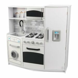 Kidkraft Large Play Kitchen In White Ebay