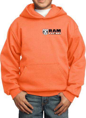 Kids Dodge Ram Hemi Logo Pocket Print Hoodie