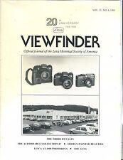Leica Viewfinder Magazine Vol. 21 No. 4 1988 Photokina EX 032817lej
