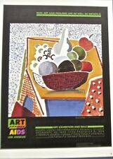 David Hockney Poster Reprint   Art Against Aids- Bowl of Fruits  13 1/2x10