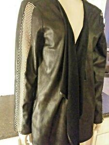 Joseph-Ribkoff-SIZE-10-BLACK-Jacket-WOMENS-BEAUTIFUL-AND-COMFORTABLE-LOOSE-FIT