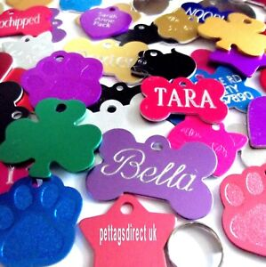 Dog-amp-Cat-PET-Id-Tag-Colour-Aluminium-RED-BLUE-PINK-CHEAP-Half-PRICE-Engraved